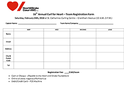 Curl for Heart Registration Form